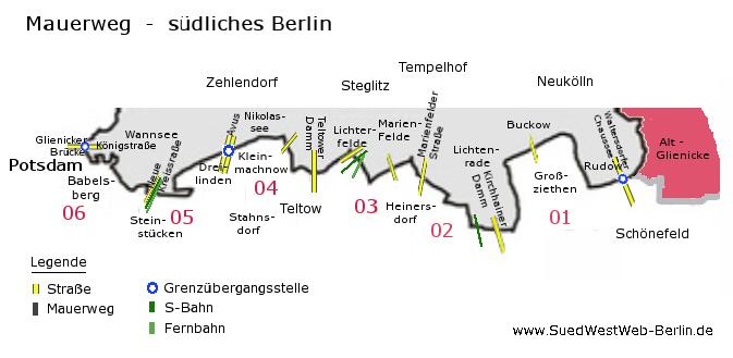 Karte Berlin Lichtenrade.Berlin Steglitz Zehlendorf Mauerweg Berlin Sudlicher